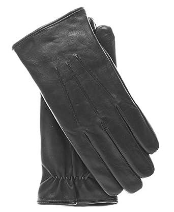 Fratelli Orsini Everyday Men's Italian Lambskin Cashmere Lined Winter Leather Gloves Size M Color Black