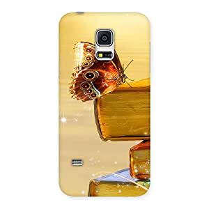 Impressive Book Butterfly Back Case Cover for Galaxy S5 Mini