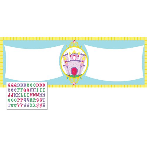 Creative Converting Castle Fun Giant Party Banner with Stickers