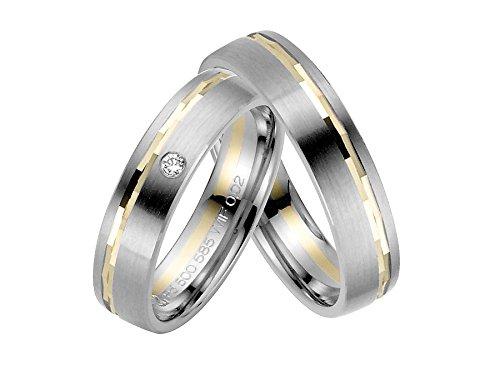 Rauschmayer pair of wedding rings Palladium 50916