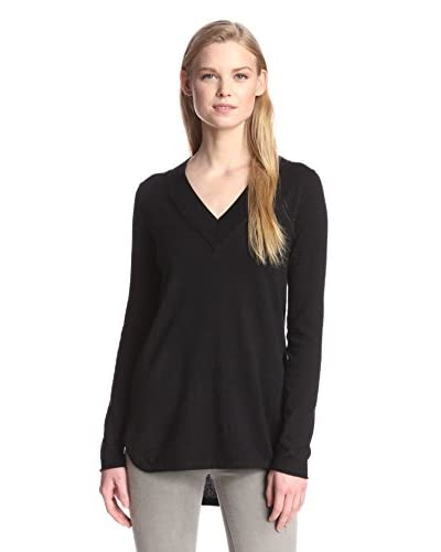 Cashmere Addiction Women's High-Low V-Neck Sweater