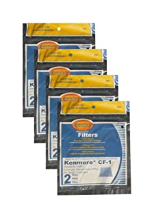 (8) Kenmore Sears Progressive Foam Filter CF1, Progressive & Whispertone, Panasonic Vacuum Cleaners, 86883, 86880, 20-86883, 2086883, 8175084