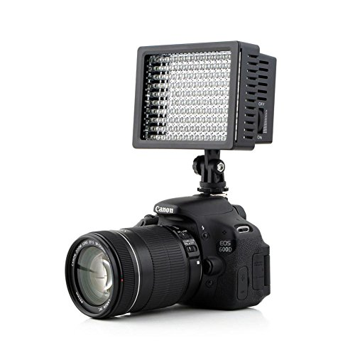 Lightdow-LD-160-Ultra-High-Power-Dimmable-160-LED-Bulb-Video-Light-for-Canon-Nikon-Sony-DSLR-Camera