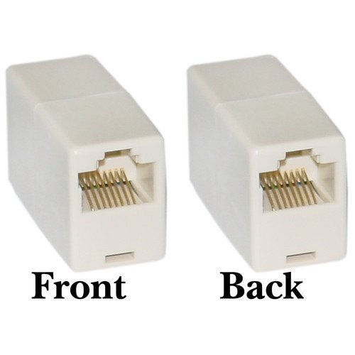 Rj p c straight telephone inline coupler top
