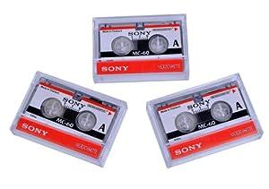 Microcassette Blank Cassette Tape Disc 60 min 3 pcs Tapes for Sony MC-60 MC60