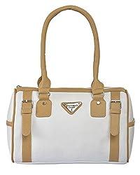 Fostelo Women's Sasha Shoulder Bag (White) (FSB-671)