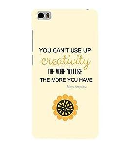 EPICCASE creative quotes Mobile Back Case Cover For Xiaomi Mi5 (Designer Case)