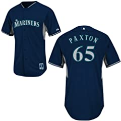 James Paxton Seattle Mariners Navy Batting Practice Jersey by Majestic by Majestic