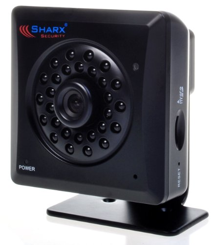Sharx Security VIPcella-IR SCNC2700P Wired PoE IP network camera with MicroSD DVR and True Day/Night vision