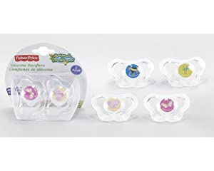 Fisher Price Silicone Pacifiers 2 Pack