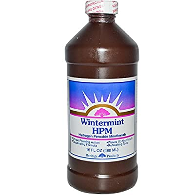 Heritage Products, HPM, Hydrogen Peroxide Mouthwash, Wintermint, 16 fl oz (480 ml)