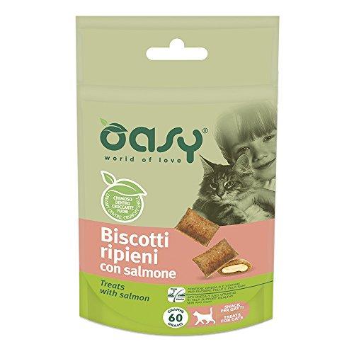 OASY Biscotti ripieni al salmone 60gr - Snack per gatto
