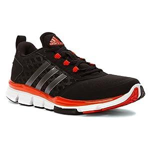 adidas Performance Men's Speed Trainer 2 Training Shoe, Black/Carbon Metallic/Collegiate Orange, 6.5 M US