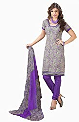 Fashions World Fancy Multi Crepe Dress Material