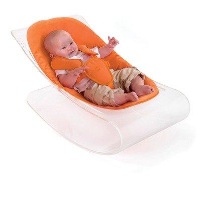 White Coco Plexistyle Baby Lounger in Harvest Orange