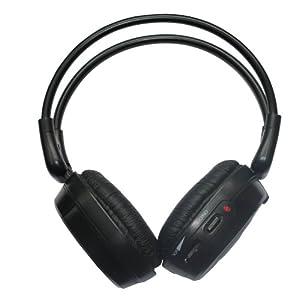 """Takara 1 combi Lecteur DVD + 1 Moniteur 7"""" USB Slot SD Système de fixation fixe pour appui-tête et 2 casques infrarouge"""