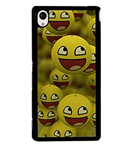 printtech Smiley Meme Happy Back Case Cover for Sony Xperia M4 Aqua::Sony Xperia M4 Aqua Dual
