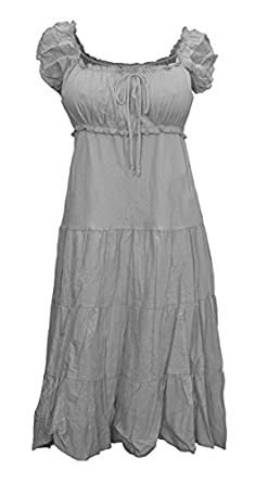 b3c1de960bc3 Evogues plus size cotton empire waist sundress gray jpg 235x445 Empire  waist sundresses