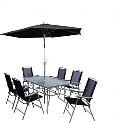 CB Imports Steel Outdoor Patio Set (8 Pieces)