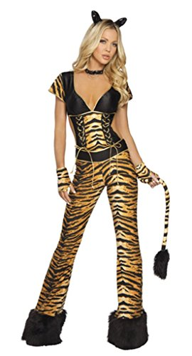 Nicewishes Women's 2 Piece Wild Tigress Costume