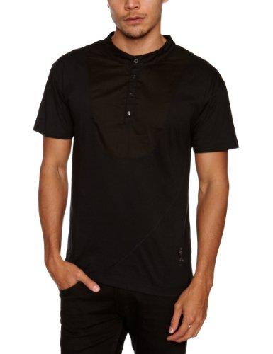 Religion Ltd Clash Grandad Polo Shirt Men's T-Shirt Jet Black Small