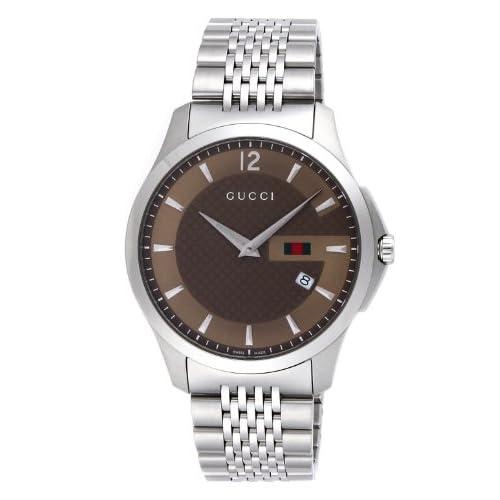 [グッチ]GUCCI 腕時計 Gタイムレス ブラウン文字盤 YA126310 メンズ 【並行輸入品】