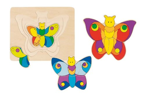 "Wooden Butterfly Puzzle 7"" by Goki"