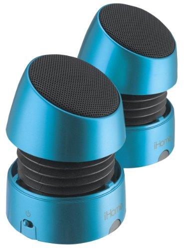 Ihome Ihm79 Rechargeable Mini Speakers (Blue)