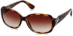 Vogue Gradient Square Sunglasses (0VO2778SBW65613Medium) (Dark Havana)
