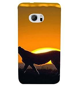 PrintVisa Animal Leopard Design 3D Hard Polycarbonate Designer Back Case Cover for HTC One M10