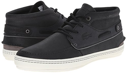 Lacoste Men's Meyssac Deck Fashion Sneaker, Black/Grey, 8 M US