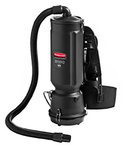 Rubbermaid Commercial 1868435 Executive Series HEPA Backpack Vacuum Cleaner, 8-Amp, 10-quart, Black