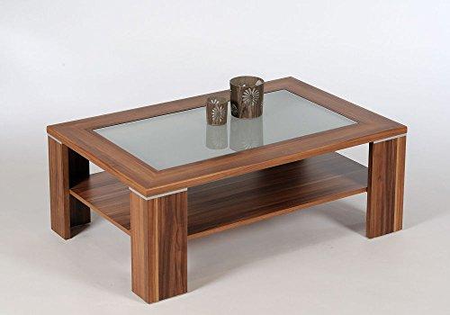 proline santos couchtisch nussbaum mit satiniertem glas. Black Bedroom Furniture Sets. Home Design Ideas