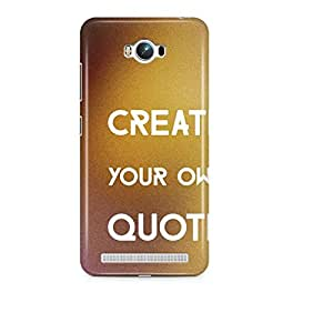 Motivatebox- Create your Own Quote. Share a design and we would put in a cover and send it you Asus Zenfone Max cover -Matte Polycarbonate 3D Hard case Mobile Cell Phone Protective BACK CASE COVER. Hard Shockproof Scratch-