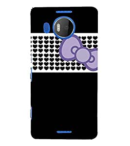Beautiful Bow Design 3D Hard Polycarbonate Designer Back Case Cover for Nokia Lumia 950 XL :: Microsoft Lumia 950 XL