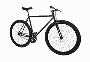 Pure Fix Cycles Fixed Gear Single Speed Urban Fixie Road Bike, 54cm/ Medium, Juliet Matte Black
