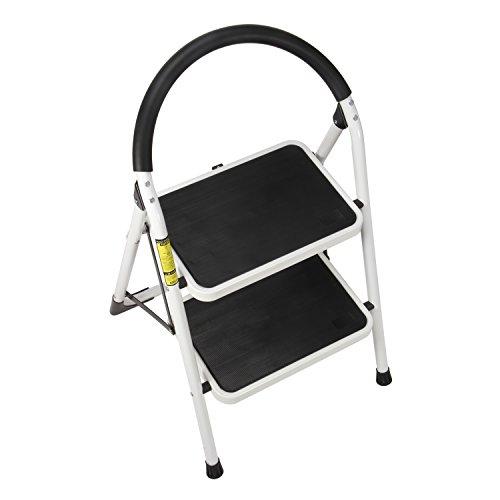 Ollieroo Ladder En131 Steel Folding 2 Step Stool With