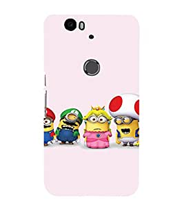 EPICCASE Minion and Friends Mobile Back Case Cover For Huawei Nexus 6P (Designer Case)