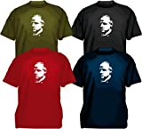 #2 Don Vito Corleone T-Shirt, the godfather, mafia gangster funny tee, red, S
