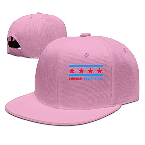 ZOENA Iowa Hawkeyes Chicago Flag Iowa Style Cotton Hats Sports Snapback Cap For Outdoor Sports Pink (Vitamix Mixer Stick compare prices)