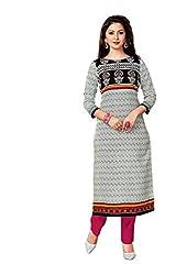 AMP IMPEX Ethnicwear Women's Kurti Fabric Grey Free Size