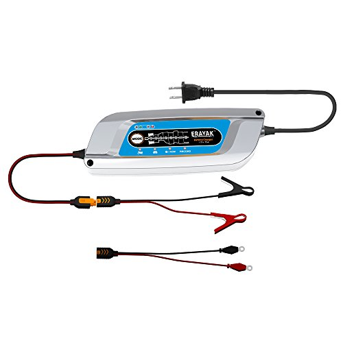 ERAYAK 12V 5A Automatic Car Battery Charger Maintainer for 120Ah Lead-acid Battery,All types of ATVs,lawn mowers,motorcycles,automotive,marine,RV,power sport,lawn&garden,AGM,gel cell batteries-C9005