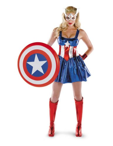 Captain America Deluxe Female Sm Adult Womens Costume