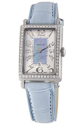 Gevril Women's 7247NV Mini Quartz Avenue of Americas Blue Diamond Watch
