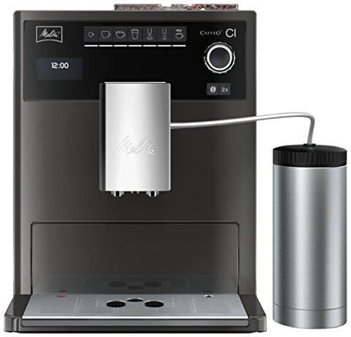 Melitta E970-205 Eleganter Kaffeevollautomat Caffeo CI Special Edition, Isolier-Milchbehälter, 15 bar, Hochglanz-Lackierung in Edelstahloptik thumbnail