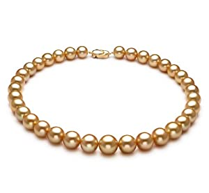 PearlsOnly Collier de Perles Or 11-15mm AAA Mers du Sud