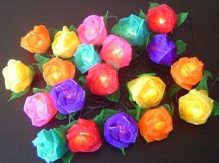 Battery Powered Mixed Colour Rose Fairy Light String