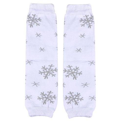 Matoen Child PrincessSocksChild Girl Kneepad Socks Leg Warmer (White) (White Fluffy Leg Warmers)