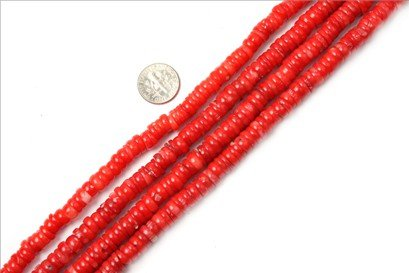 2x8mm--2x9mm geuine light coral beads strand 15