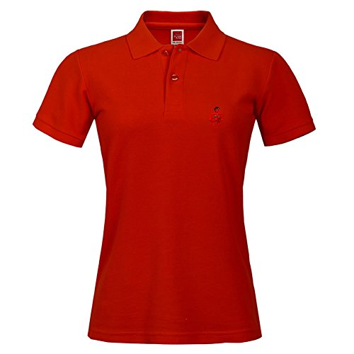 Stylish Red Polo Shirt Outdoor Sport Large Short Shirt With Collar The_girl_she_devil Printed